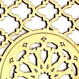 Arabic Decoration Lattice - Laminated Wood Laser Cut - Model 16