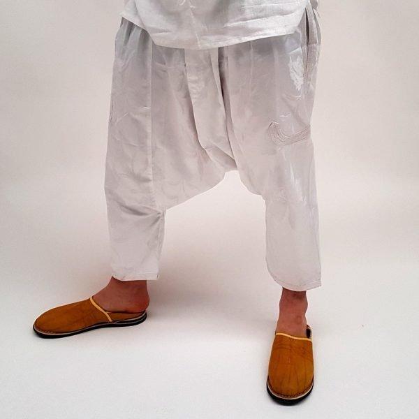 Arab Bombacho Trousers - Floral design fabric - Men - Bazan model