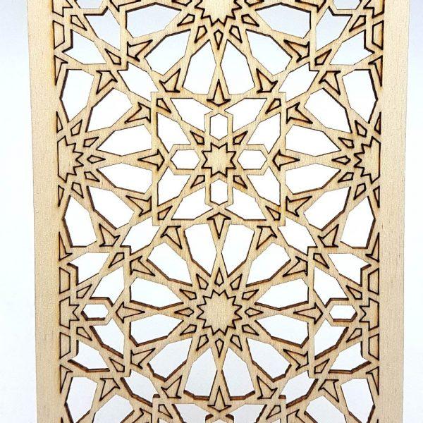 Lattice Decoration Arab - Laminated Wood Laser Cut - Model 17