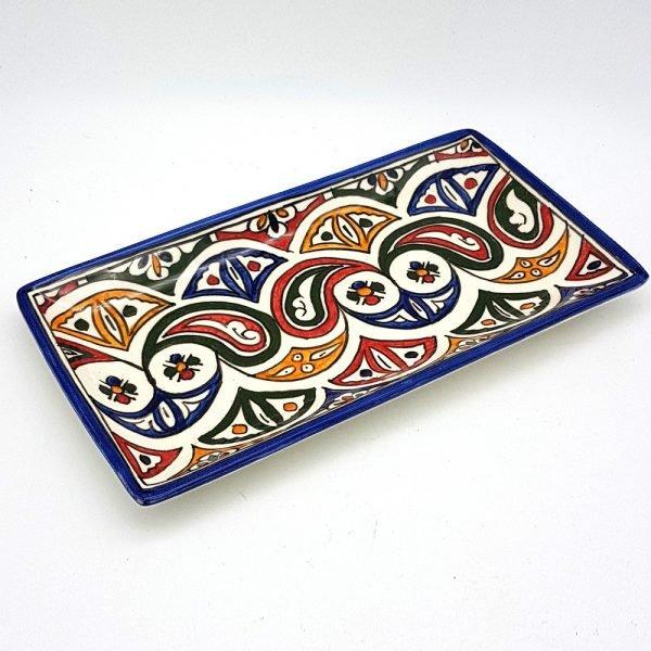 Dish or tray Rectangular Hand-painted ceramic - SERIE FESI