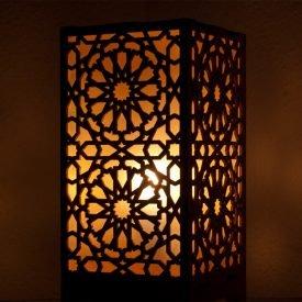Alkauzar Wooden Lamp - Mosaic Design Alhambra