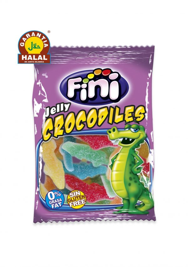 Acid Crocodiles - Halal Sweets - Gluten Free and 0% Fat - Fini - 100 gr