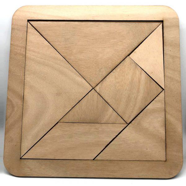 Giant Wood Tangram 40 cm - Ingenuity and Skill