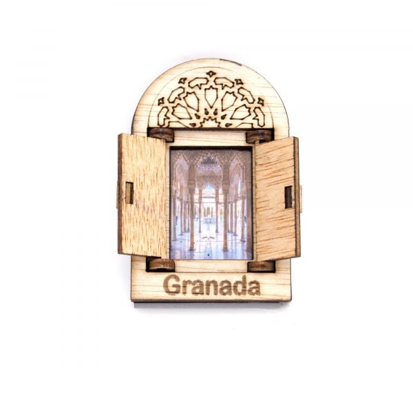 Arabic Window with Fridge Magnet door - Alhambra Design - Souvenir