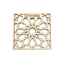 Pack 6 Granada Souvenir Coasters - Alhambra Lattice