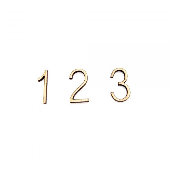Wooden Numbers - Laser Cut - Crafts and Crafts
