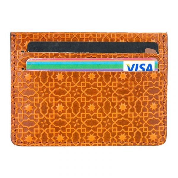 Kayku Embossed Leather Card Holder