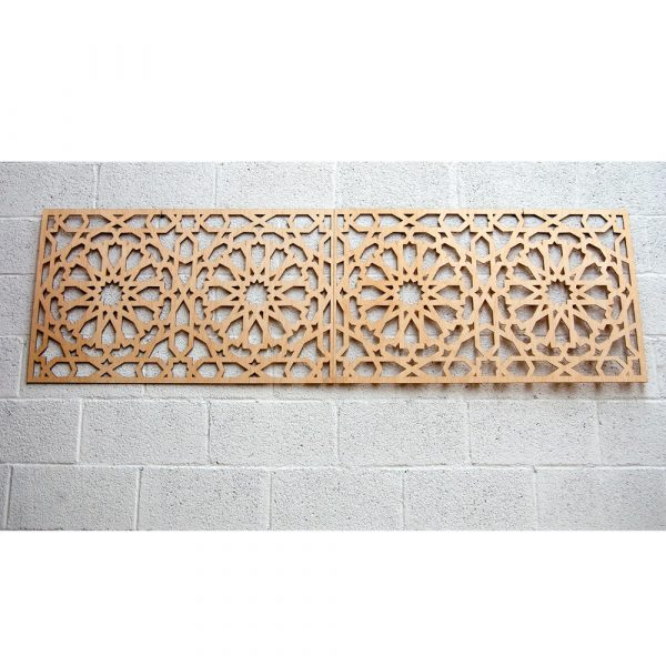 Alhambra Wood Lattice Bed Headboard - 200 x 60 cm