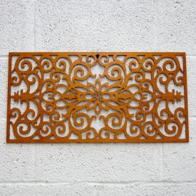 Wooden Lattice - Floral Border - 60 x 30 cm