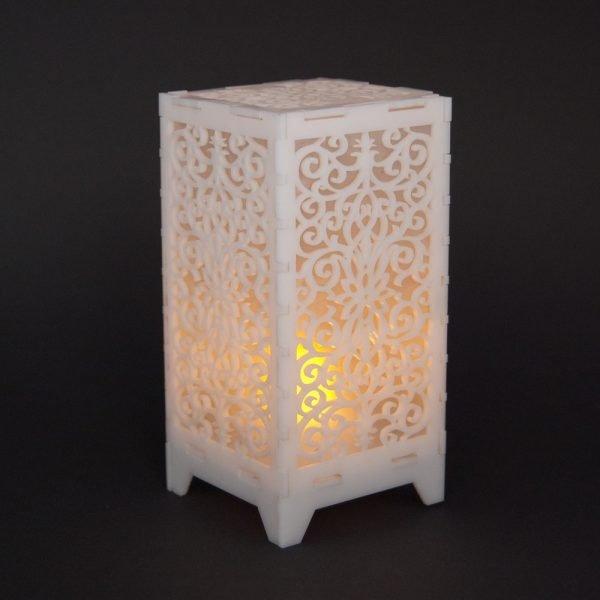 Deluxe Led Lantern - Floral Design - 13 cm