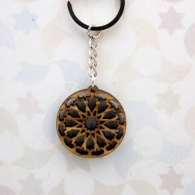 Olive Wood Keychain - Generalife Design