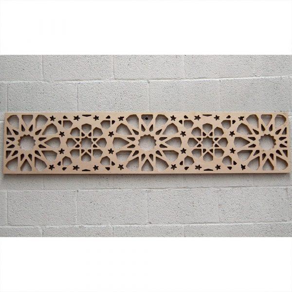 Wood Lattice Headboard - 168 x 36 x 3 cm - Samai Model