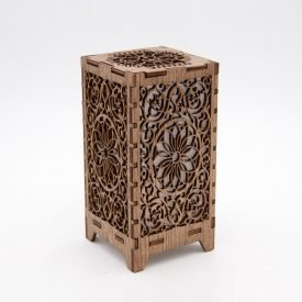Mini Shams Lantern - Wood - Led
