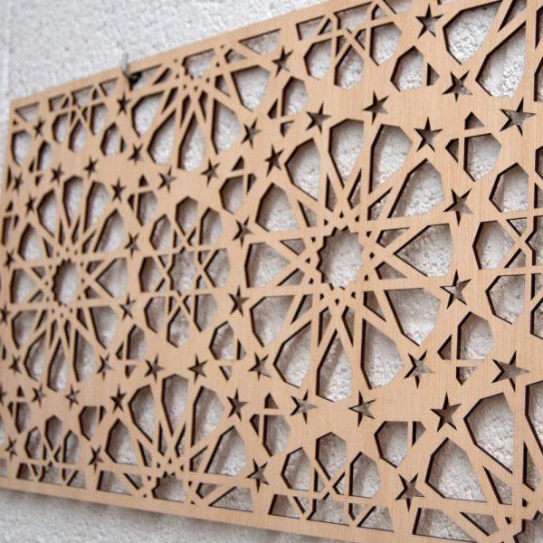 Bed Headboard Wood Lattice - 168 x 36 x 4 mm - Samai Model