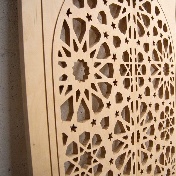 Arabic Wood Lattice Door - 200 x 120 cm - Samai Model
