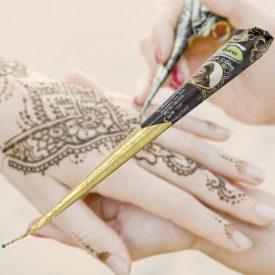 Black Henna Tattoo Cone - ARWA - Dark Color - India