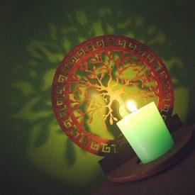 Openwork Lattice Candle Holder - Life Tree