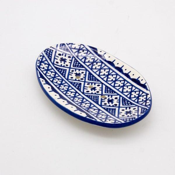 Ceramic Soap Dish - Berber Design - Fez Model - 14 cm