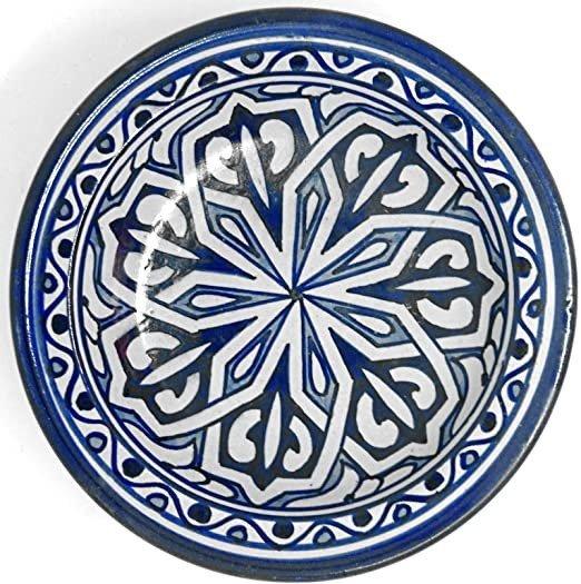 Deep Plate Fez 35 cm - Painted Ceramic - Andalusian Fruit Bowl