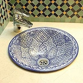 Arabic Ceramic Basin - Hand Painted - Model Fez - 35 cm