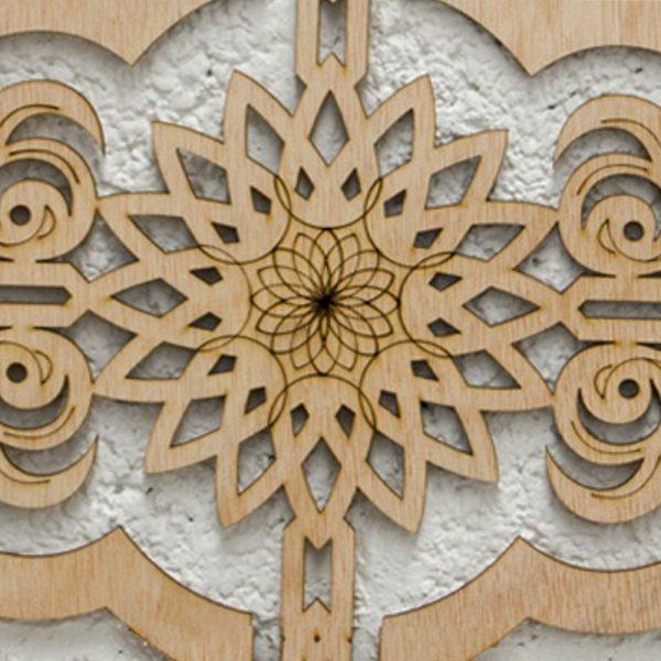 Wooden Lattice - Ethnic Engraving - Niger Model - 50 cm