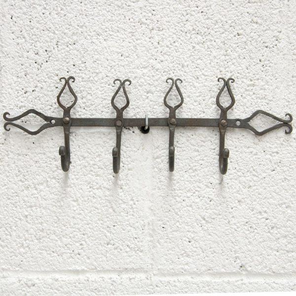 Handmade Forge Coat Rack - Arabic Design - WARD Model