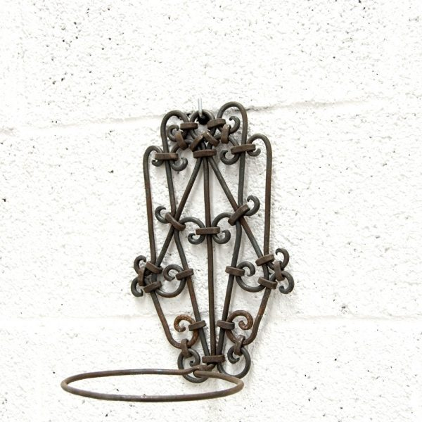 Hand of Fatima Planter - 100% Wrought Iron - Xaouen Model