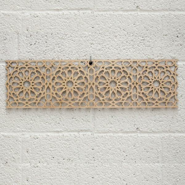 Laminated Wood Lattice - Laser Cut - Alhambra Design- 50 x 14cm