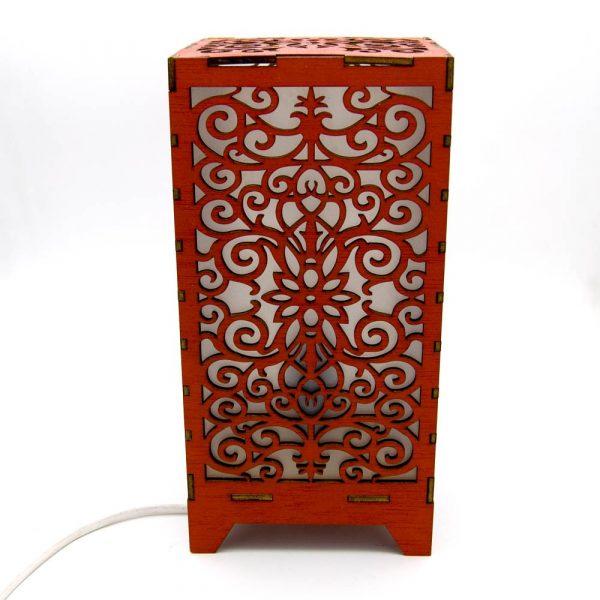 Laminated Wood Lamp - Laser Cut - Baroque Model