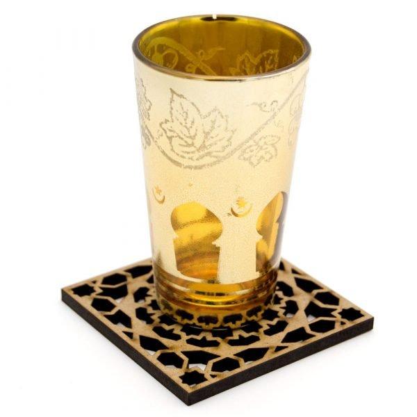 Set 6 Coasters Celosía Arabe - Wood - Alhambra Model