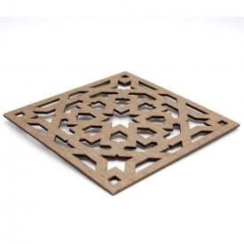 Placemat - Dish stands - Laminated Wood - Laser Cut - Alhambra Design