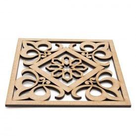 Placemat - Plate holder - DM - Laser Cut - Baroque-Arabic design