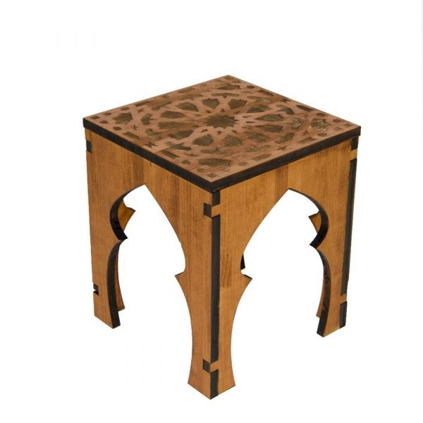 Teteria Coffee Table or Stool - 100% Wood - Alhambra Design - Deluxe