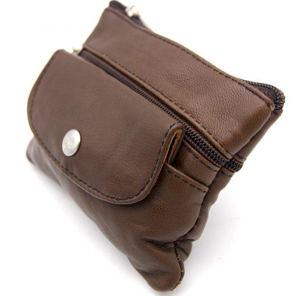100% Leather Purse - 3 Pockets - Shaibani Model