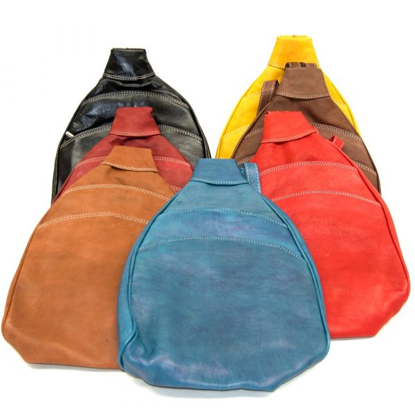 Backpack or shoulder bag 100% Leather - Vivid Colors - Alkataf Kabir Model