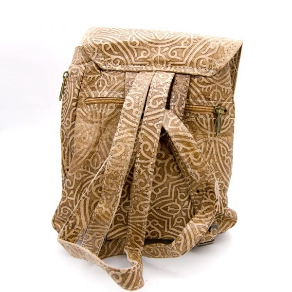 Small Leather Backpack - Moorish Designs - Model IBIL