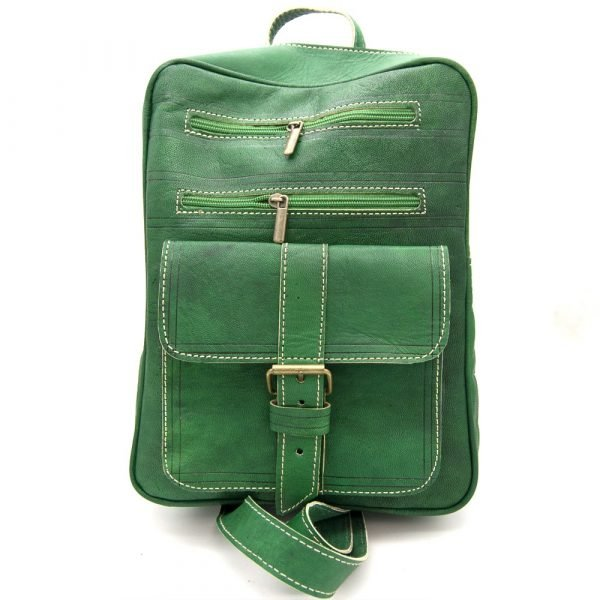 100% Leather Backpack - Bright colors - Model Sastatein