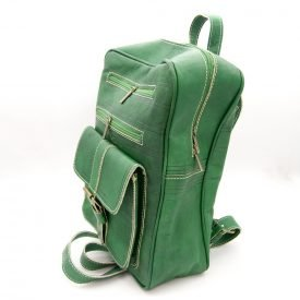 Leather goat leather backpack