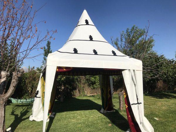Moroccan Arab Jaima - Tent - 2 x 2 m - PVC -Iron Structure - Parties Events