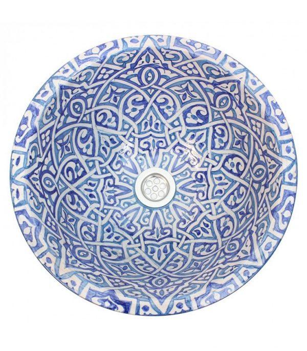Arabic Ceramic Sink 40cm - Artesania Fes - Hand Painted