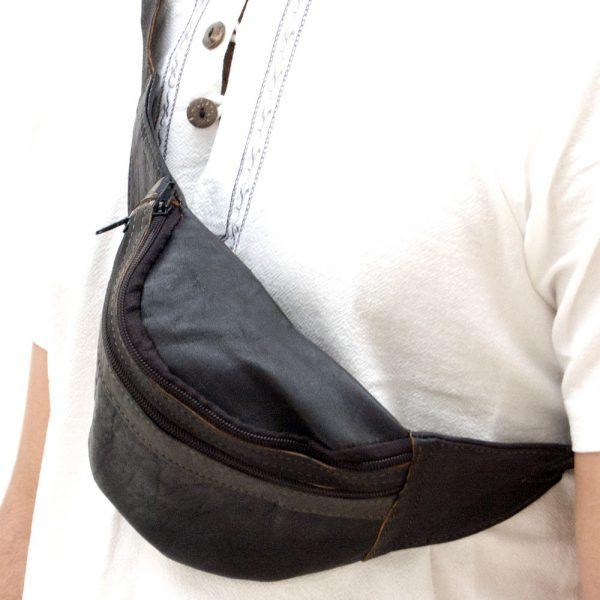 Leather Belt Bag - Leather Goods - Model KANI