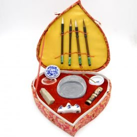 China Ink Pack - Brushes + Ink + Inkwell + teaspoon + mortar