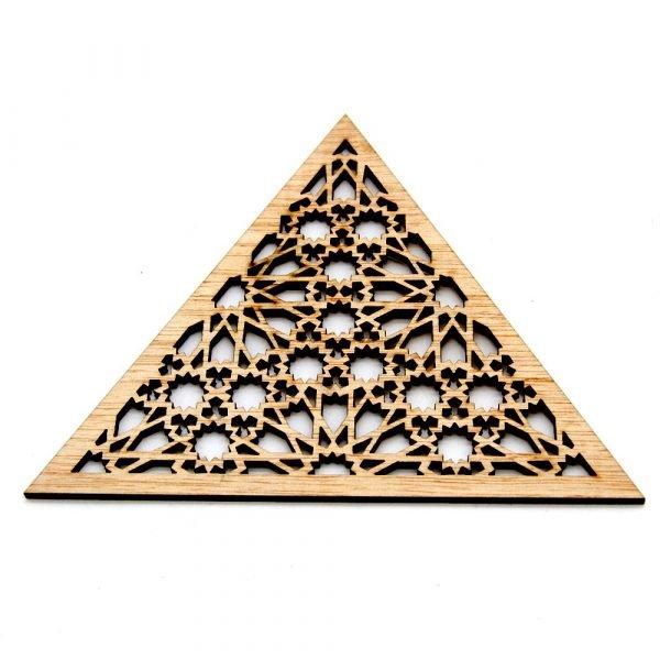 Triangular Arabic Lattice - Laminated Wood - Muzalaz Design