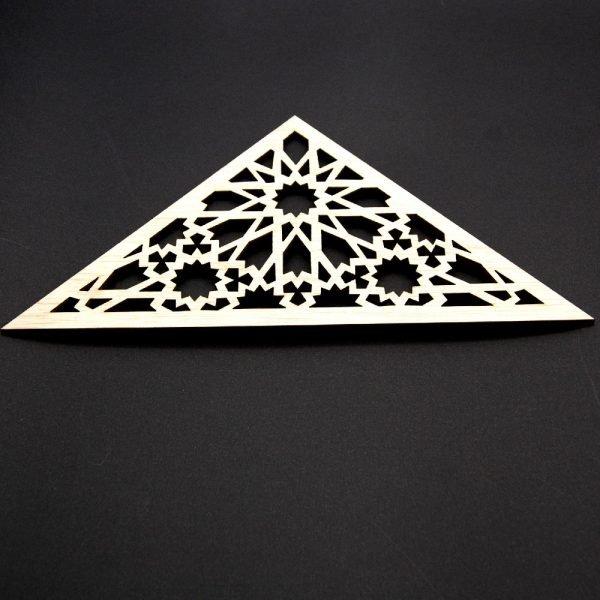 Triangular Arabic Lattice - Laminated Wood - Muzalazat Design