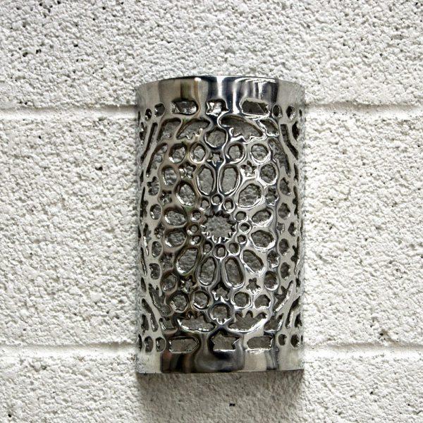 Arab Wall Sconce - Openwork Aluminum - Geometric Designs - Hambra Model