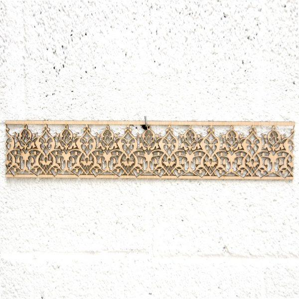 Arabic Wood Lattice 10x50cm - Geometric Designs - Laser Cut - Labilab Model