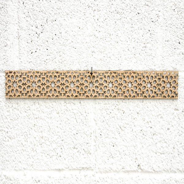 Arabic Wood Lattice 10x50cm - Geometric Designs - Laser Cut - Alnujum Model