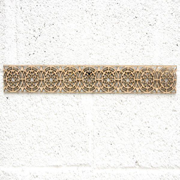Arabic Wood Lattice 10x50cm - Geometric Designs - Laser Cut - Aldawayir Model