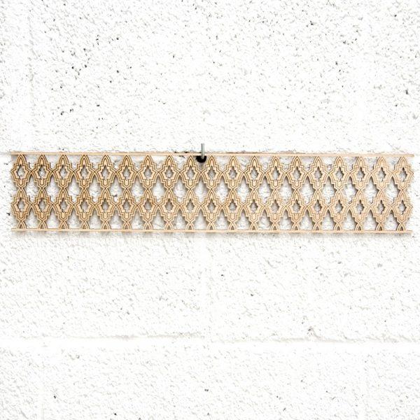 Arabic Wood Lattice 10x50cm - Geometric Designs - Laser Cut - Waraq Model