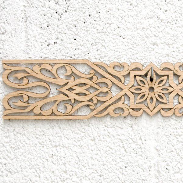 Arabic Wood Lattice 10x50cm - Geometric Designs - Laser Cut - Jamil Model